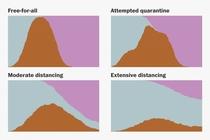 Эти симуляции показывают, как сгладить кривую роста коронавируса.