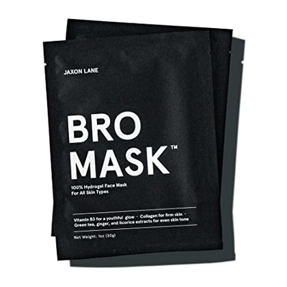 BRO MASK: Peel Off Face Mask for Men | 2 Pc. Beard Mask Sheet Masks