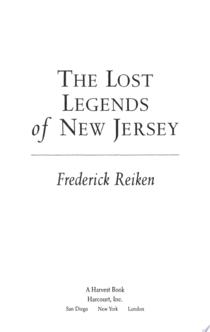 The Lost Legends of New Jersey - Frederick Reiken