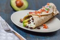 Egg Avocado and Black Bean Breakfast Burrito