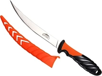Huntsman Outdoors Fillet Knife - Razor Sharp 6 inch Stainless Steel Blade - Protective Sheath - Non Slip Grip