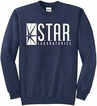 Star Labs Sweatshirt Star Laboratories Superhero Sweatshirt Navy M