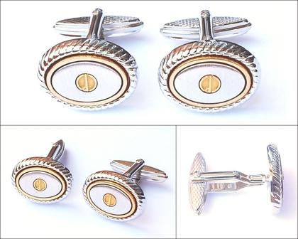 Men's Cufflinks | Silver & Gold Cufflinks
