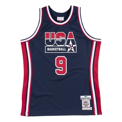 Michael Jordan 1992 Olympics Dream Team USA Hardwood Classics Throwback Authentic Jersey