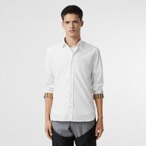 Рубашка из эластичного поплина (Белый) - Для мужчин | Burberry
