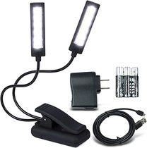 LUMIENS Brooklyn - Music Stand Light Clip On LED Lamp - No Flicker, Fully Adjustable, 6 Levels of Brightness - Also for Book Reading, Orchestra, Mixing, DJ's