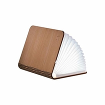 Gingko LED Mini Smart Book Desk Light with Natural Wood Effect Finish, Rechargable with Micro USB Charger, Maple