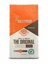 "People recommend "" Bulletproof The Original Ground Coffee, Premium Medium Roast Gourmet Organic Beans, Rainforest Alliance Certified, Perfect for Keto Diet, Upgraded Clean Coffee (12 Ounces)"""