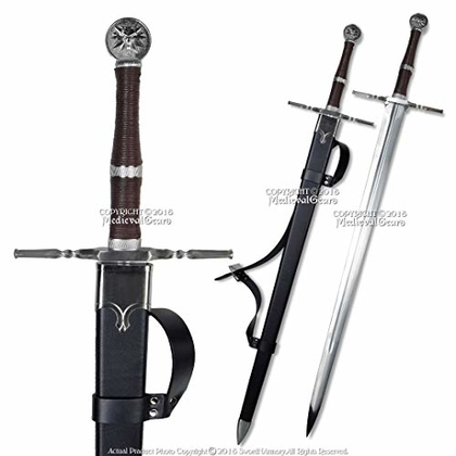 "People recommend ""Medieval Gears 49"" Geralt The Witcher Steel Blade Replica Sword w/Scabbard."""