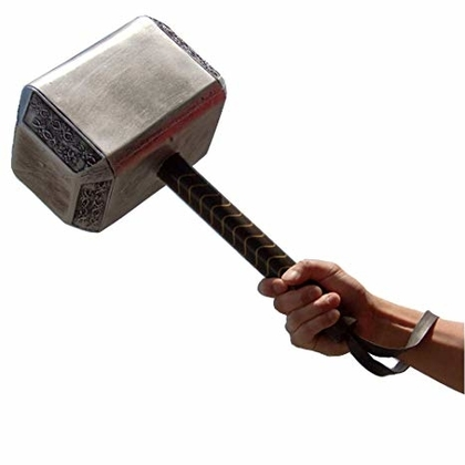 "People recommend ""Thor's Hammer  Foam Thunder Hammer Toy Collectors Cosplay Prop Fancy Replica Weapon Silver Grey Adult Size """
