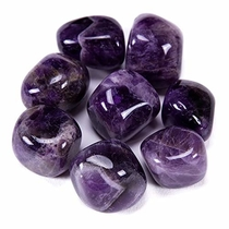 "People recommend ""Bingcute Brazilian Tumbled Polished Natural Amethyst Stones 1/2 Ib for Wicca, Reiki, and Energy Crystal Healing (Amethyst)"""
