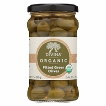 "People recommend ""Divina Organic Pitted Green Olives - Case of 6 - 6 oz."""