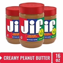 "People recommend ""Jif Creamy Peanut Butter, 7g (7% DV) of Protein per Serving, Smooth, Creamy Texture, No Stir Peanut Butter, 16 Ounce, Pack of 3"""