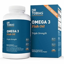 "People recommend ""Dr Tobias Omega 3 Fish Oil Triple Strength, 2,000mg, Burpless, Non-GMO, NSF-Certified (180 Softgels)"""
