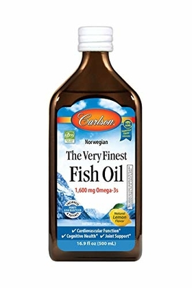 """People recommend """"Carlson The Very Finest Fish Oil, Lemon, Norwegian, 1,600 mg Omega-3s, 500 mL, 16.9 Fl Oz"""""""