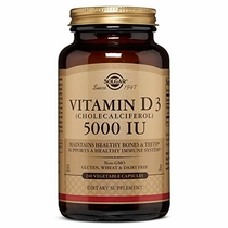 "People recommend ""Solgar Vitamin D3 (Cholecalciferol) 125 mcg (5,000 IU) Vegetable Capsules - 240 Count"""