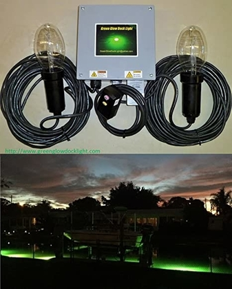 """People recommend """"Double Lamp Underwater Fishing Light Kit, Dock & Fish Lights with 50' Cords """""""