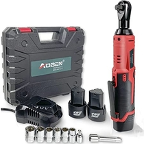 """People recommend """"Cordless Electric Ratchet Wrench Set, AOBEN 3/8"""" 12V Power Ratchet Tool Kit with 2 Packs 2000mAh Lithium-Ion Battery and Charger"""""""