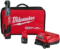 """People recommend """"Milwaukee 2557-22 M12 FUEL 12-Volt Lithium-Ion Brushless Cordless 3/8 in. Ratchet Kit"""""""
