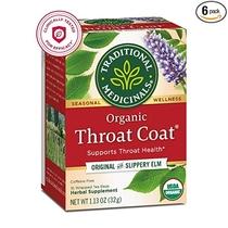 "People recommend ""Traditional Medicinals Organic Throat Coat Seasonal Tea"""