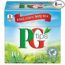 """People recommend """"PG Tips Black Tea, Pyramid Tea Bags, 240-Count Box (Pack of 2) """""""