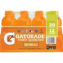 """People recommend """"Gatorade Thirst Quencher, Orange, 12 Count, 20 oz Bottles"""""""