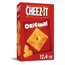 """People recommend """"Cheez-It Baked Snack Cheese Crackers, Original, 12.4 Oz Box"""""""