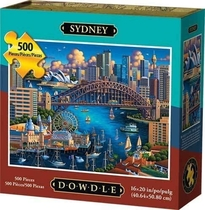 """People recommend """"Sydney 500 Piece Jigsaw Puzzle By Artist Eric Dowdle"""""""