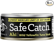 "People recommend ""Safe Catch Ahi, Lowest Mercury Solid Wild Yellowfin Tuna Steak"""