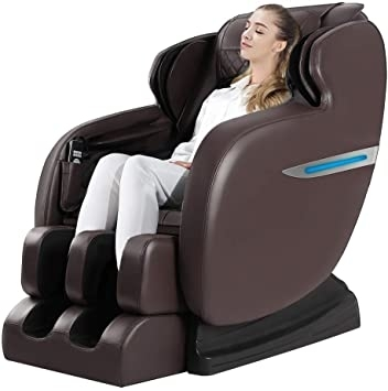 """People recommend """"Ugears Massage Chair, Zero Gravity Full Body Massage Chair, Shiatsu Massage Recliner with Bluetooth Heating Function Foot Roller LED Light, Brown"""""""