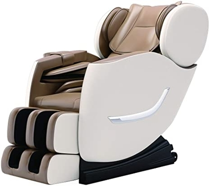 """People recommend """"SMAGREHO 2020 New Full Body Electric Zero Gravity Shiatsu Massage Chair with Bluetooth Heating and Foot Roller for Home and Office(Khaki)"""""""