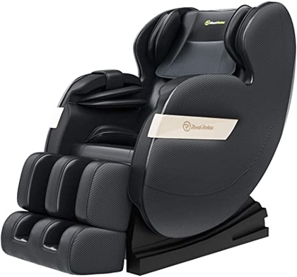 "People recommend ""Real Relax 2020 Massage Chair, Full Body Zero Gravity Shiatsu Recliner with Bluetooth and Led Light, Black"""