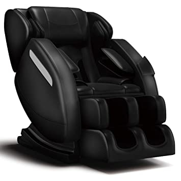 """People recommend """"FOELRO Full Body Massage Chair,Zero Gravity Shiatsu Recliner with Air Bags,Back Heater,Foot Roller and Blue-Tooth Speaker,Black"""""""