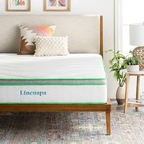 """People recommend """"LINENSPA 10 Inch Latex Hybrid Mattress - Supportive - Responsive Feel - Medium Firm - Temperature Neutral - Queen"""""""
