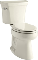 """People recommend """"Kohler K-3999-47 Highline Comfort Height 1.28 gpf Toilet, Almond - Two Piece Toilets"""""""
