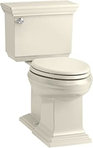 """People recommend """"KOHLER K-6669-47 Memoirs Stately Comfort Height 2-Piece Elongated Toilet, 1.28 GPF, Almond """""""