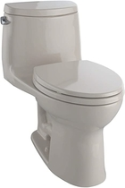 """People recommend """"Toto MS604114CEFG#03 UltraMax II One-Piece Elongated 1.28 GPF Universal Height Toilet, Bone"""""""