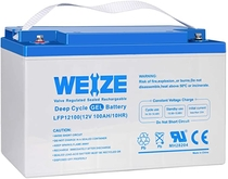 "People recommend ""Weize 12V 100AH Pure GEL Deep Cycle Rechargeable Battery, For Solar Power System RV House Trolling Motor Wheelchair, Universal"""