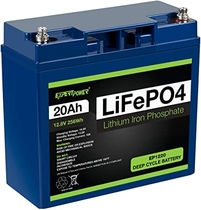 "People recommend ""ExpertPower 12V 20Ah Lithium LiFePO4 Deep Cycle Rechargeable Battery 