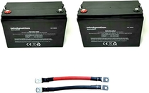"People recommend ""2pcs WindyNation 100 amp-Hour 100AH 12V 12 Volt AGM Deep Cycle Sealed Lead Acid Battery - Solar RV UPS Off-Grid (2 pcs 100 amp-Hour)"""