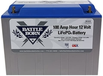 "People recommend ""Battle Born LiFePO4 Deep Cycle Battery - 100Ah 12v with Built-in BMS - 3000-5000 Deep Cycle Rechargeable Battery - Perfect for RV/Camper, Marine, Overland/Van, and Off Grid Applications"""