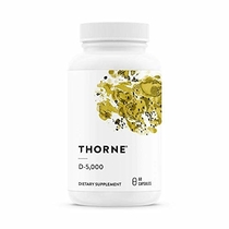 "People recommend ""Thorne Research - Vitamin D-5000 - Vitamin D3 Supplement (5,000 IU) for Healthy Bones and Muscles - NSF Certified for Sport - 60 Capsules"""
