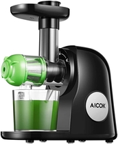 "People recommend ""Juicer Machines, Aicok Slow Masticating Juicer Extractor Easy to Clean, Quiet Motor & Reverse Function, BPA-Free, Cold Press Juicer with Brush, Juice Recipes for Vegetables and Fruits, Classic Black"""