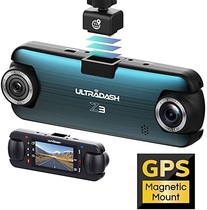 "People recommend ""UltraDash Dash Cam, Telephoto Zoom-in + Wide Angle Lens, Dual Full HD 1080P@30fps, Magnetic GPS Charging Mount, HDR High-end Night Image Sensor, G-Sensor, 2 Inch LCD, Super Capacitor, Loop Recording"""