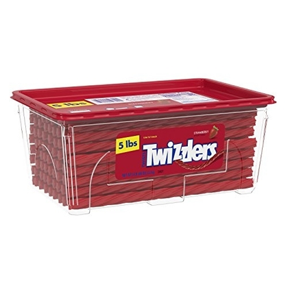 "People recommend ""TWIZZLERS Licorice Halloween Candy, Strawberry, 5 Pound"""