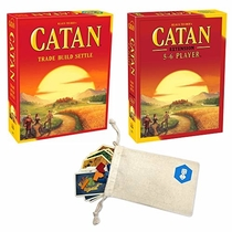 "People recommend ""Catan 5th Edition Board Game with Catan 5-6 Player Extension Bundle 