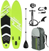 Premium Inflatable Stand Up Paddle Board (6 inches Thick) with Durable SUP Accessories & Carry Bag | Wide Stance, Surf Control, Non-Slip Deck, Leash, Paddle and Pump, Standing Boat for Youth & Adult
