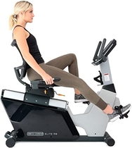 3G Cardio Elite RB Recumbent Exercise Bike Elite RB Recumbent Bike, Gray/Silver