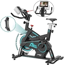 Pooboo Magnetic Exercise Bike Belt Drive Indoor Cycling Bike, Stationary Bike with Pad/Phone Mount, Adjustable Magnetic Resistance & Heavy Flywheel Smooth Quiet